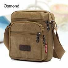 Buy Osmond Men bag fashion mens shoulder bags high Canvas casual crossbody messenger bag business mens travel bags for $10.79 in AliExpress store