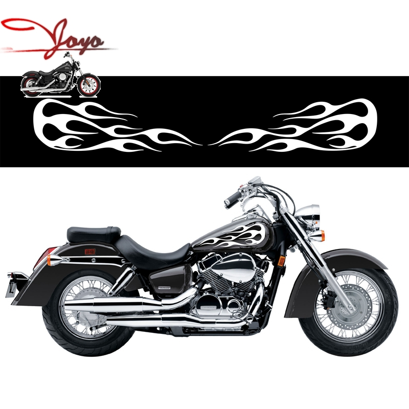 Motorcycle Flame Gas Tank Decals Stickers For Honda Shadow
