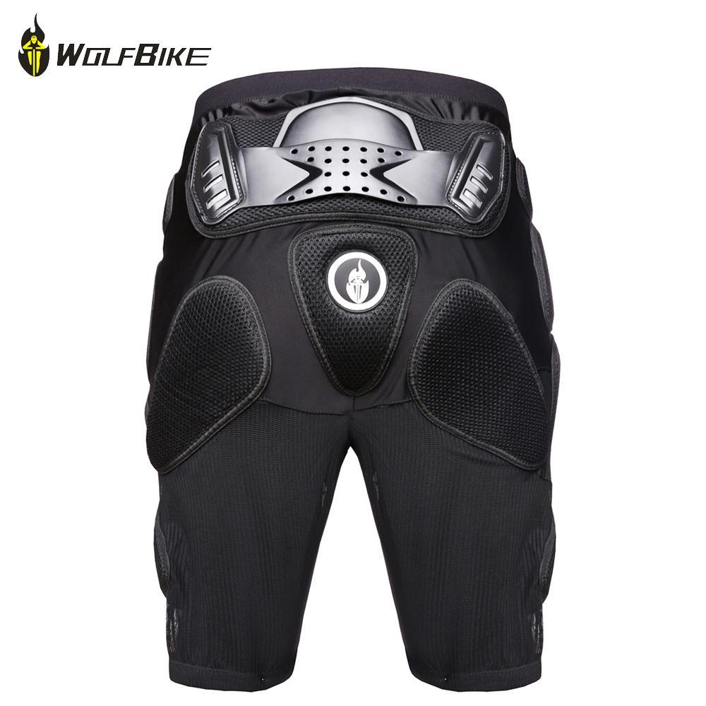 Wolfbike Protective Hip Motorcycle Armor Shorts Moto Skiing Snowboarding Skating Sport Hip Pad Protection Leg Protector S-XXL