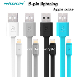 1.2m Nillkin Cable Universal Flat Micro USB Data 8-pin connector Cable 5V 2A Charge Cable For Apple iPhone 5 6 of ios8.0