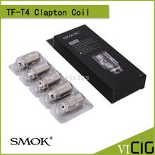 100% Original Smok TF-T4 Quadruple Clapton Core 0.2ohm Replacement Coil 5pcs/lot