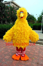 High-quality adult size New Yellow Big Bird Costume Mascot Free shipping