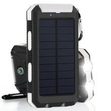 ROHS Power Bank Charger PowerGreen 10000mAh LED Light Design Solar Battery Backup Mini Panel for Phone