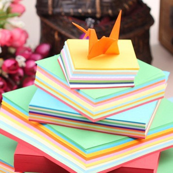 2016 NEW 80 Sheets Origami Paper 5 Colors One Sided 9.8cm Square Origami Papern DIY Fold Paper(China (Mainland))