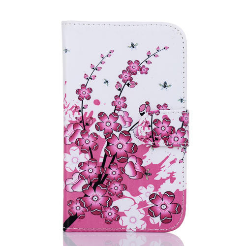 New design PU leather around Huawei ascend G700 case cover phone cases peach pattern with open slot phone protective shell(China (Mainland))