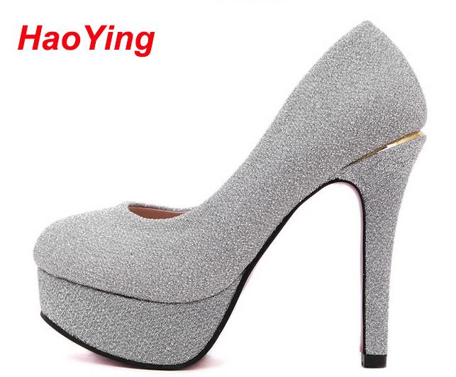 purple silver spring autumn women shoes high heel red sole shoes ladies pumps platform heels bridal shoes sexy women heels D222