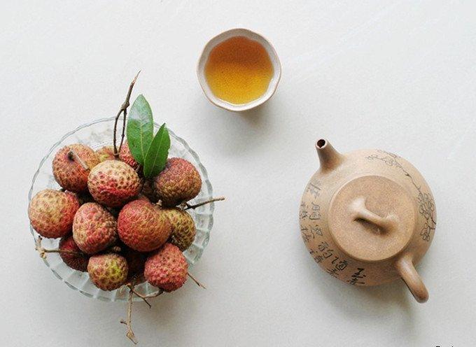 Фотография Free Shipping Lichee(Lychee)Black Herbal Tea (Good Quality) 1000g