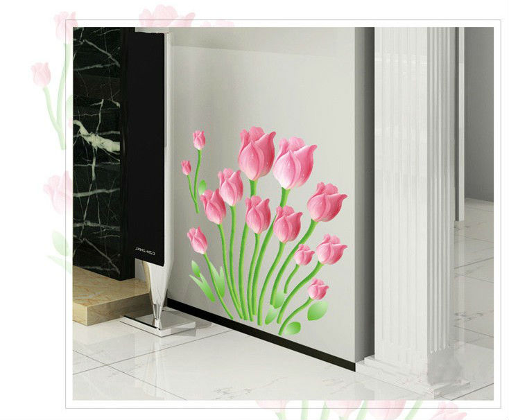 Flowers Princess Love Home Decor Mirror Wall Stickers Diy
