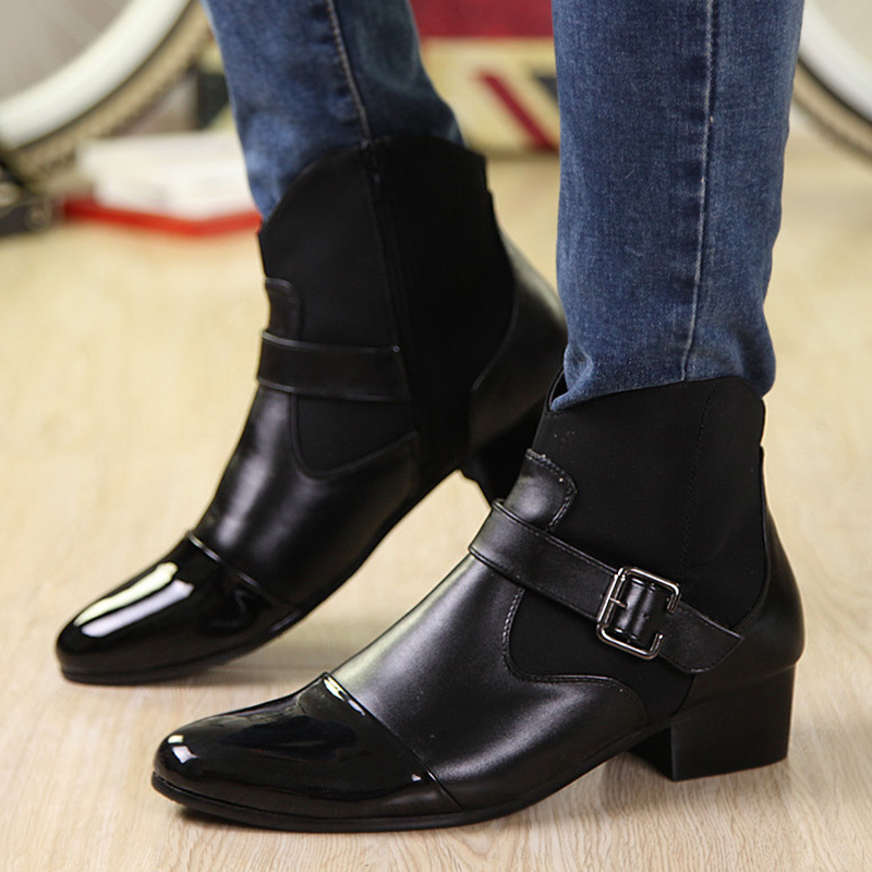 New 2014 autumn winter shoes fashion men ankle boots flat heels ...