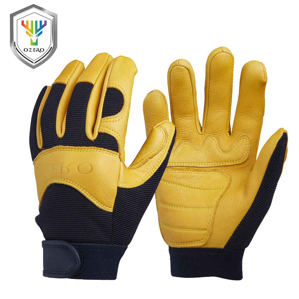 Leather work gloves for welding - Ozero Mechanics Font B Work B Font Font B Glove B Font Breathable Leather Font B