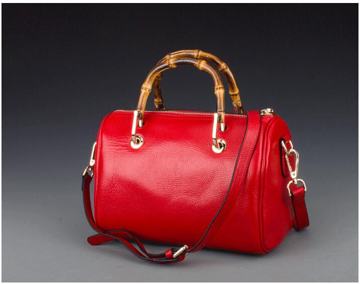 Fashion genuine leather  handbag cowhide leather women's handbag one shoulder bucket handbag  women messenger bags