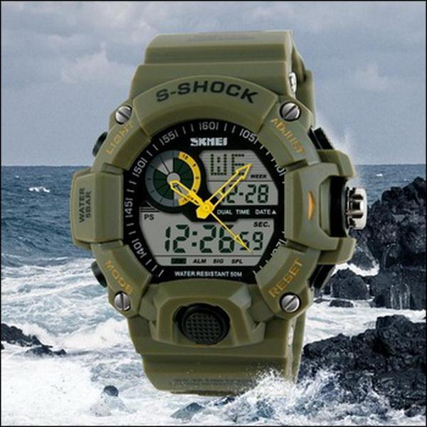 BY DHL OR EMS 200PCS SKMEI 1029 Men Sports Watches Digital LED Fashion Casual Watch Men's Military Multifunctional Clock(China (Mainland))