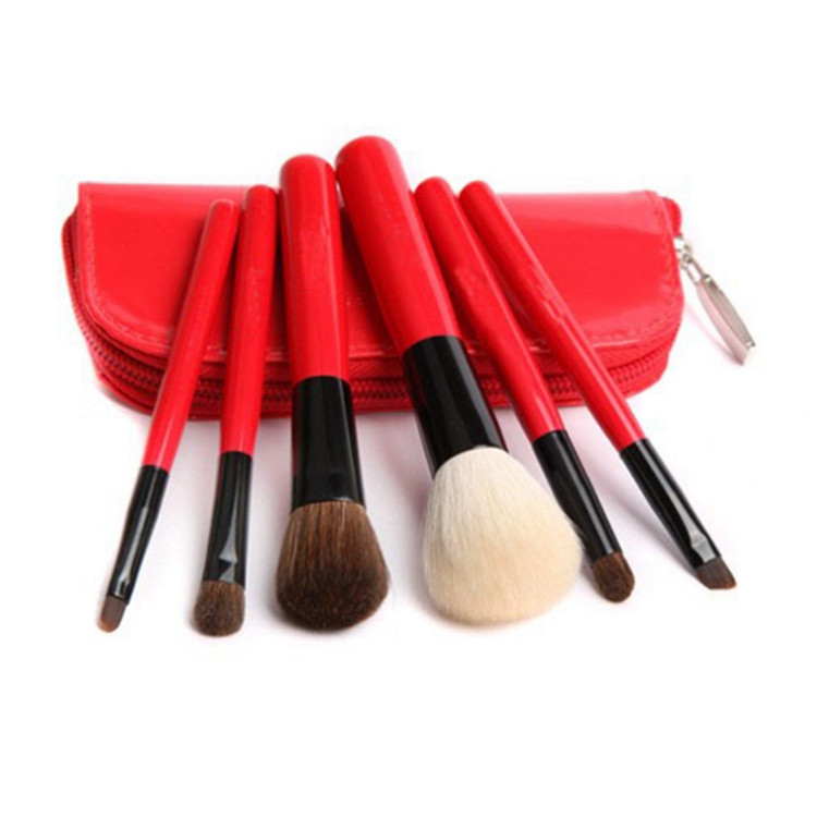 Professional 6 PCS Cosmetics Makeup Brushes Powder Foundation Eyeshadow Eyeliner Brush Set with Red Zipper Bag Make Up Brushes<br><br>Aliexpress