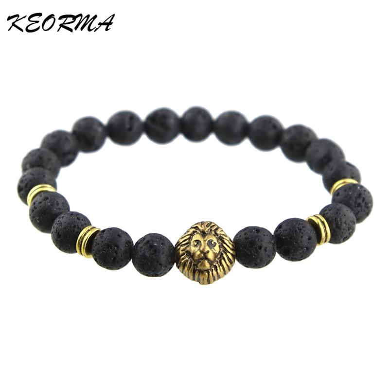 Trendy Natural Stone Charm Bracelet Gold Buddha Beads Bracelets For Women Men DIY Bead Jewelry Accessories(China (Mainland))