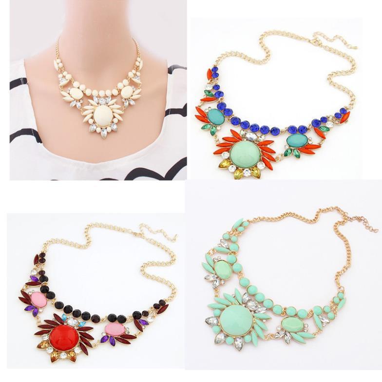produto Wholesale Women Necklaces Fashion Jewelry Mixed Style Irregular Bubble Bib Collar Statement Necklaces & pendants meus pedidos