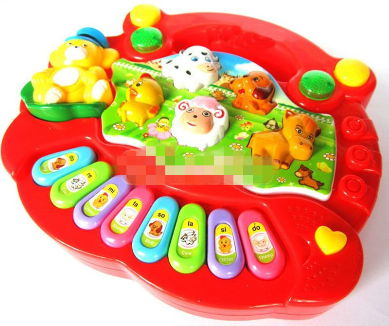 Free Shipping High Quality Baby Kid Musical Educational Animal Farm Piano Music Toy Developmental(China (Mainland))