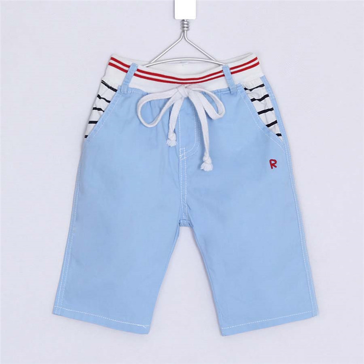2015 summer new style striped pocket style little boys casual capri pants baby boys middle pants A2217(China (Mainland))