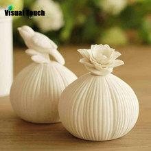 1PC Decorative Ceramic No-Open-Fire Safe Insence Diffuser Flower Bird Home Decor HOUSE FRAGRANCE Burner(China (Mainland))