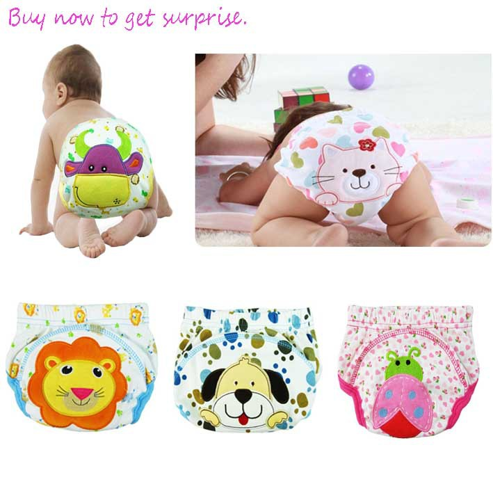 Baby toddler training pants Cartoon Animal Washable Reuseable Baby Kids Cloth Diapers /newborn underwear pants/children shorts(China (Mainland))