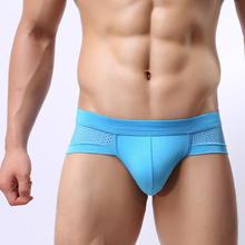 High Quality! Fashion Short Triangle mesh underwear Men Sexy  jockstrap men's briefs Underwear Shorts Mens Calzoncillos hombre(China (Mainland))