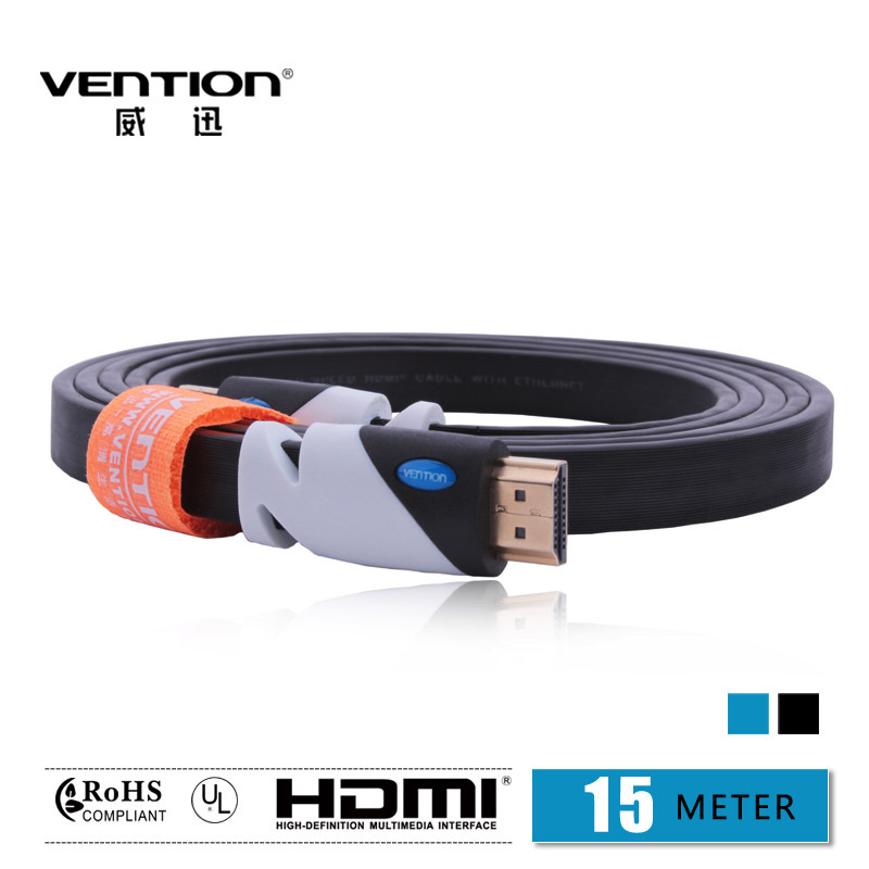 VENTION!Black Color HDMI Cable 15M Gold Plated Connection V1.4 HD 1080P TV Cable Computer cables(China (Mainland))
