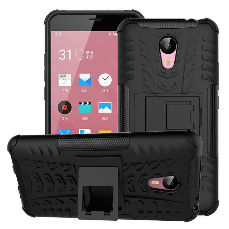 Здесь можно купить  100pcs/lot Wholesale Meizu M2 Note Case with holder Protective TPU+Plastic Back Case Cover for Meizu M2 Note Free DHL Shipping  Телефоны и Телекоммуникации