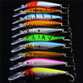 2016 10pcs lot Super Price Fishing Lure Floating Minnow Fishing Tackle Seawater Fishing Artificial Bait CrankBait