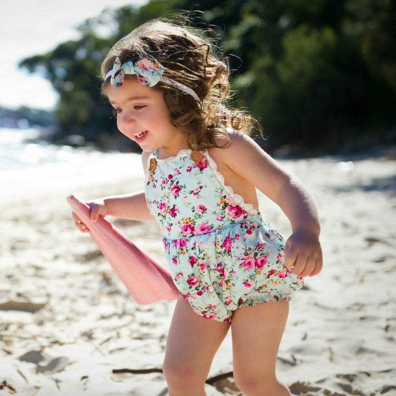 Newborn Infant Baby Girl Bodysuit Floral Playsuit Jumpsuit Outfit Sunsuit Clothes Drop Ship(China (Mainland))