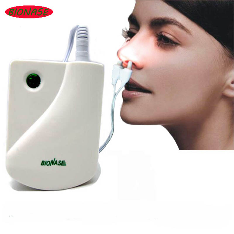 BioNase Nose Rhinitis Sinusitis Cure Therapy Massage Hay fever Low Frequency Pulse Laser HealthCare Machine instrument Massager(China (Mainland))