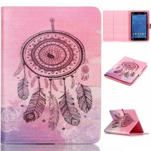Universal Leather Wallet Case for Pad mini 4/3/2/1, Size: 200x130mm Leather Case- Dream Catcher(China (Mainland))