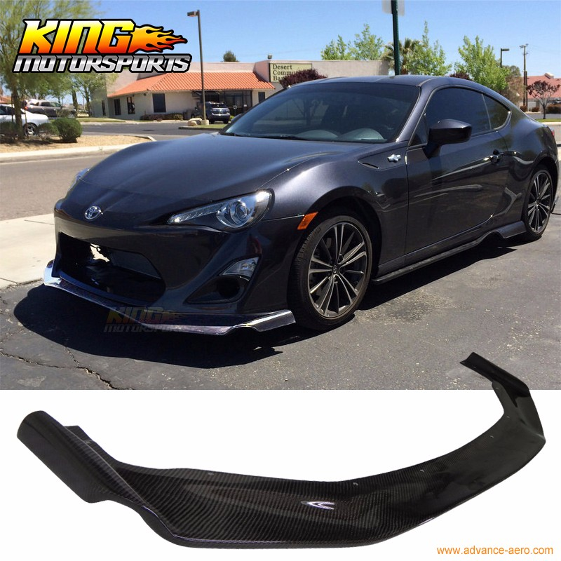For 13-16 Scion FRS GT86 2Dr Front Bumper Lip - Carbon Fiber