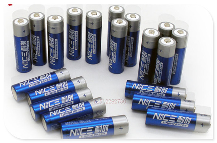 12 PCS/lot Brand New SUPER Big Capacity AA 1.5V lithium iron batteries.High power Long shelf life digital Camera, radio battery(China (Mainland))
