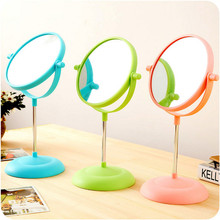 6 Inch Magnification Round Oval Shape Make up Mirror Circular Double Dual Side Rotating Cosmetic Desk Stand Mirror  for Women(China (Mainland))