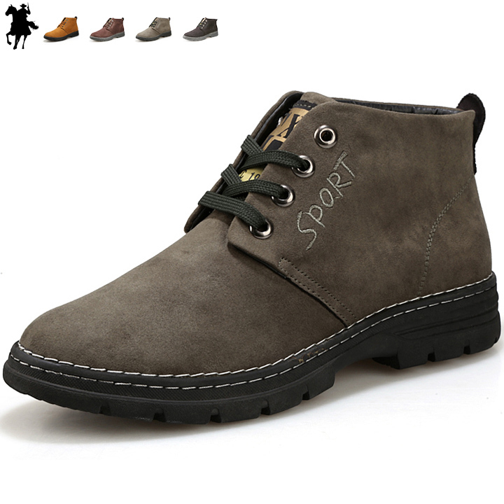 Гаджет  2015 new fashion lace-up leather man boots spring autumn men ankle boots warm shoes martin cowboy motorcycle male shoe flats None Обувь