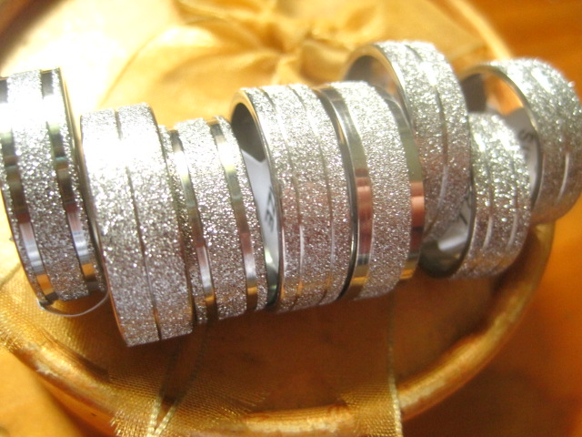 New 50pcs mixed lot Silver tone stainless steel band jewelry rings wholesale bulk lots(China (Mainland))