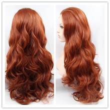 Hot Sale Heat Resistant Synthetic Lace Front Wigs Natural Wave Auburn Brown Celebrity Lace Frontal Wig for Black women