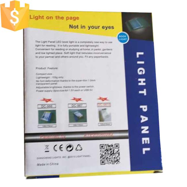 Newest Novelty Panel LED Book Light Panel Light Wedge Travel Reading Lamp Paperback Night Free Shipping Free shipping 100pcs/Lot(China (Mainland))