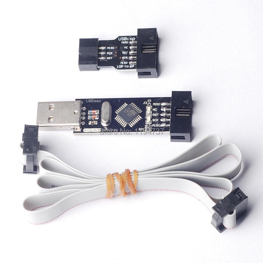 Интегральная микросхема STIME USBASP + 10PIN 6PIN USBASP USBISP AVR USB ATMEGA8 ATMEGA128 интегральная микросхема stime 100pcs lot 3w 1w 5w led heat sink