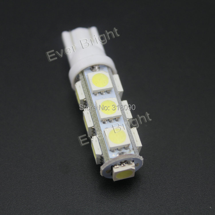 200 Pcs T10 5050 13 SMD 194 168 W5W 13 LED Super Bright Parking 12V DC Car Led Car Door Light Car Light Sourse Interior Lamps(China (Mainland))