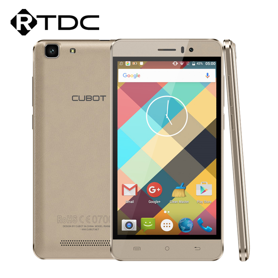 Original Cubot Rainbow 3G WCDMA Mobile Phone MTK6580 Quad Core 1.3GHz Andriod 6.0 1G RAM 16G ROM 5.0 Inch 13.0MP 1280*720 OTG(China (Mainland))
