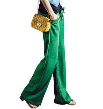 Free Shipping Women Wide leg linen pants ,fashion summer women's 2014 fluid casual pants Candy Color