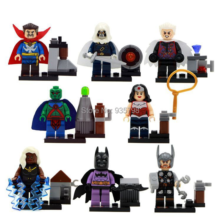 In Stock Wholesale 480pcs/lot SY266 Super Heroes Avengers Minifigures Wonder Woman Batman Baby Toy Kawaii Toy Children Gift(China (Mainland))