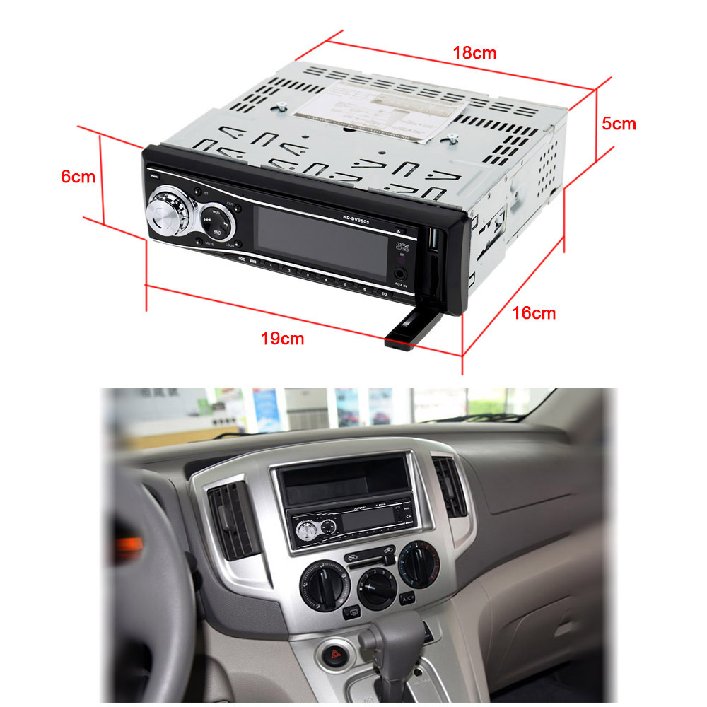 Car DVD Stereo Radio Audio Receiver MP3 Player CD/MPEG4/VCD USB SD Slot Detachable Panel Last Memory/Preset Scan Anti-Shock(China (Mainland))
