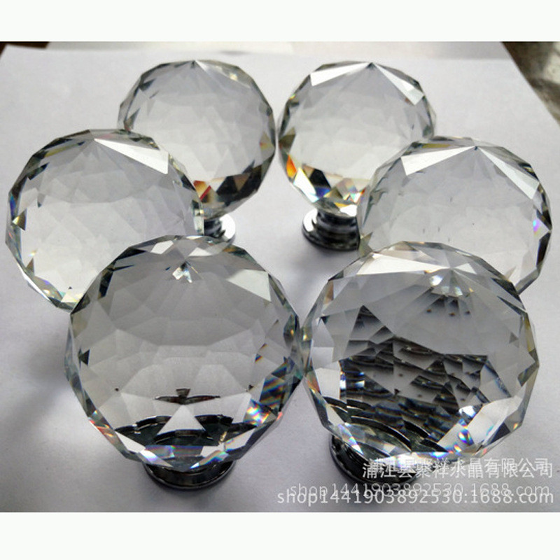 Manufacturer production furniture crystal accessories shower room glass handle of the head of a bed(China (Mainland))