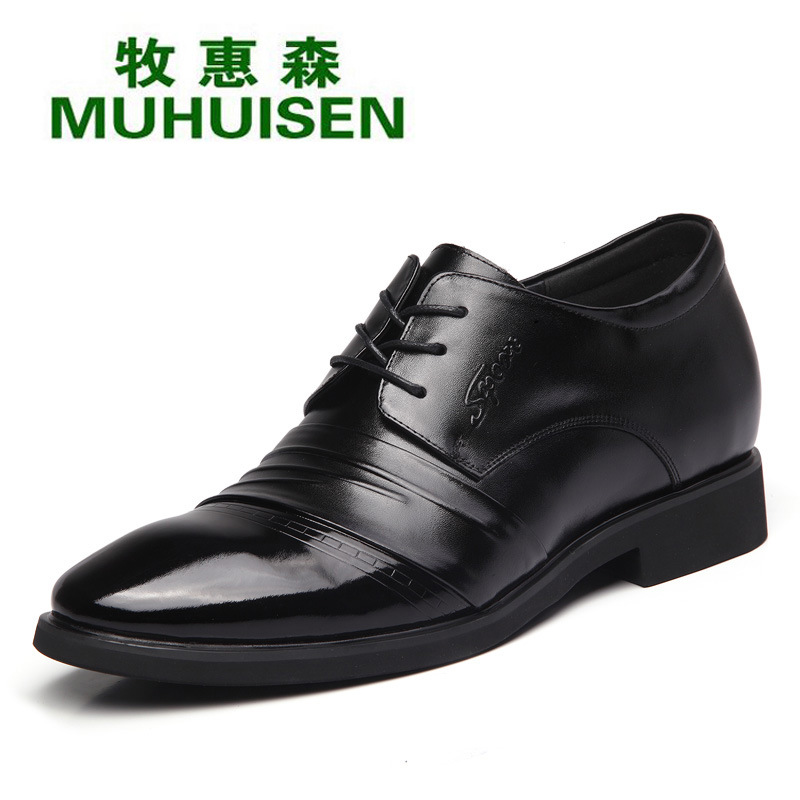 6cm Height Increasing Real Genuine Leather Men Dress Shoes For Causal Party Wedding Formal Business Work Oxfords Elevator Flats<br><br>Aliexpress
