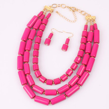 african beads choker classic women bead necklace jewelry fashion statement necklace multi layer necklace 8010
