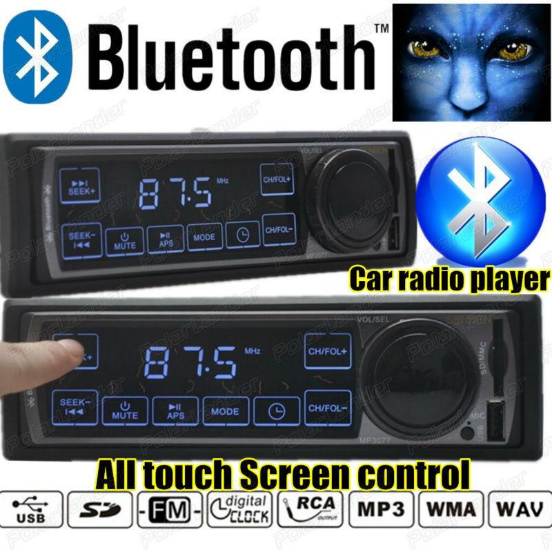 2015 New Car Stereo FM car Radio bluetooth MP3 Audio Player Touch Screen Control Bluetooth USB Port SD/MMC Card auto 1 din size
