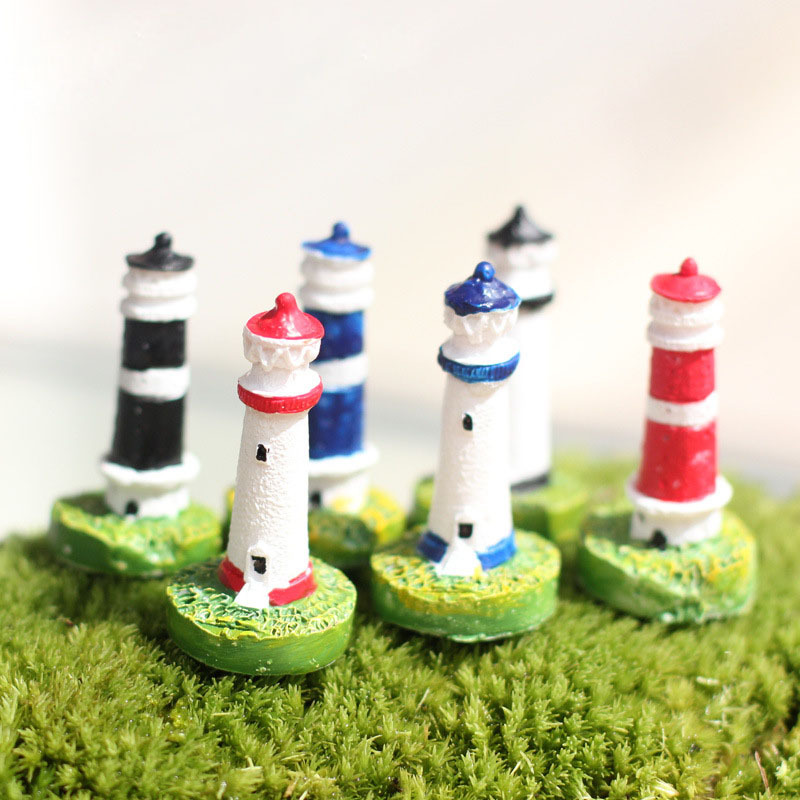 Lighthouse Beacon Miniature Fairy Garden Home Houses Decoration Mini Craft Micro Landscaping Decor DIY Accessories(China (Mainland))