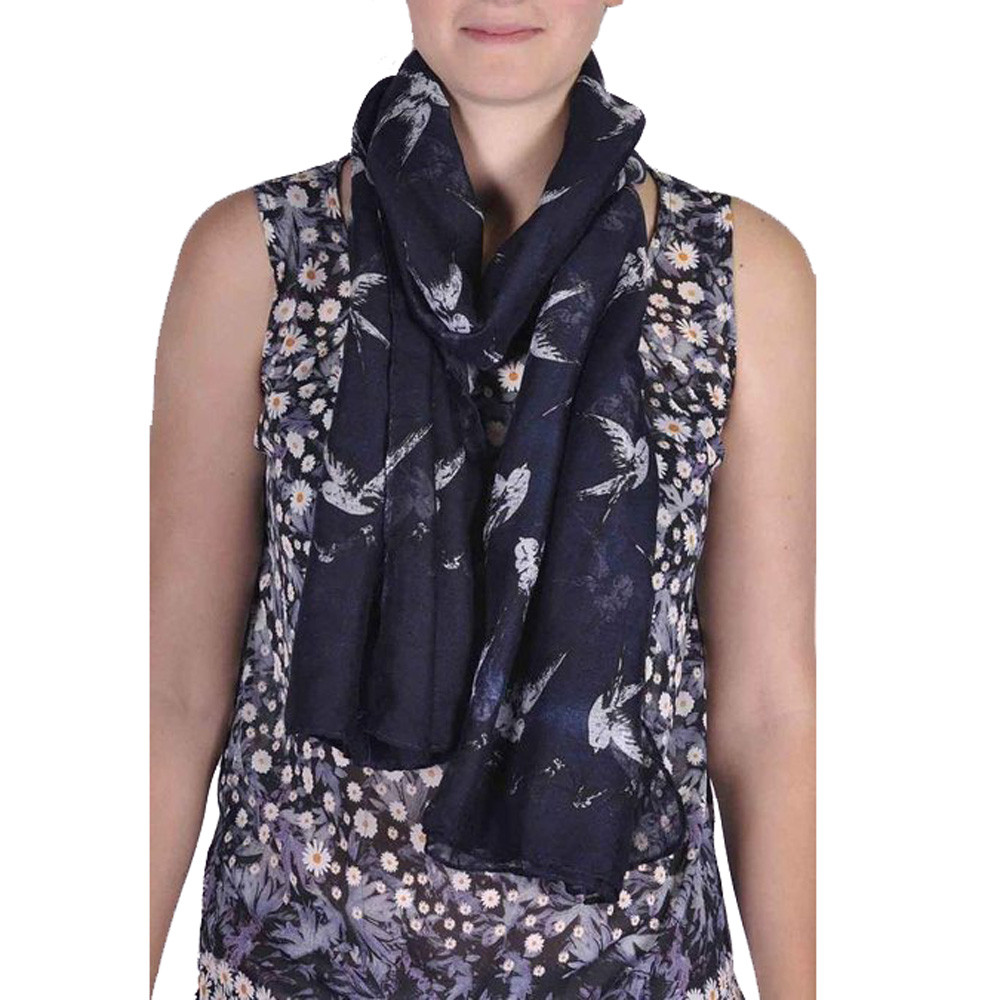 190*80cm Women Long Scarf Cute Swallow Birds Print Scarf Wraps Shawl Soft Scarves(China (Mainland))