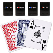 FREE SHIPPING PokerClub Plastic playing CARDS PVD frosted wide big line edition of Texas poker wholesale
